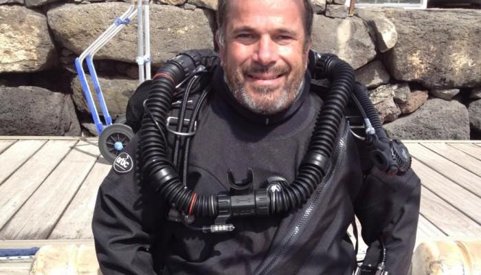 Daniel Malfanti en buceo de instruccion curso rebreather JJ-CCR en Lanzarote