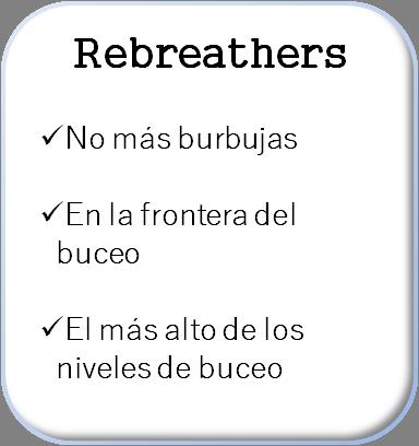 boton caracteristicas del buceo técnico rebreathers blanco