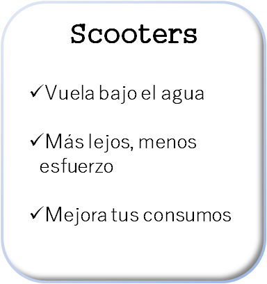 Boton buceo scooters blanco